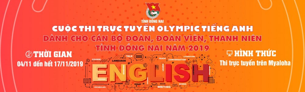 Thể lệ Cuộc thi trực tuyến Olympic tiếng Anh dành cho cán bộ Đoàn