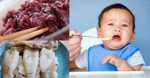 Các cặp thực phẩm không nên kết hợp cho bé ăn