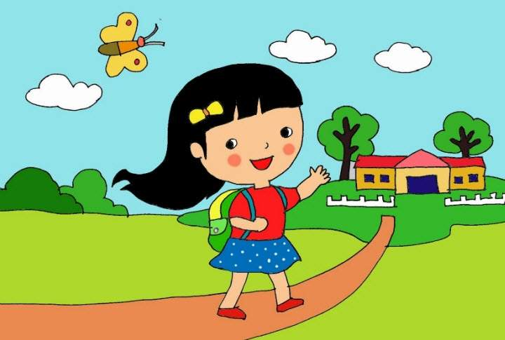 Văn mẫu lớp 5: Tả con đường từ nhà đến trường mẫu 3