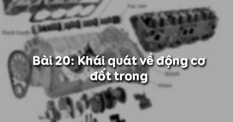 Giải bài tập SGK Công nghệ lớp 11 bài 20: Khái quát về động cơ đố