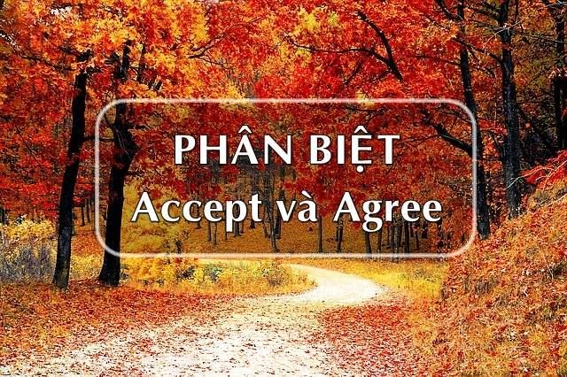 Phân biệt Accept và Agree