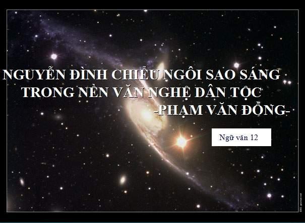 Mẫu 1 Tóm tắt tác phẩm Nguyễn Đình Chiểu, ngôi sao sáng trong v