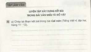 Tập làm văn Tuần 25 trang 45, 46, 47 VBT Tiếng Việt 4 Tập 2