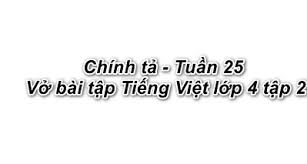 Chính tả Tuần 25 trang 41 VBT Tiếng Việt 4 Tập 2