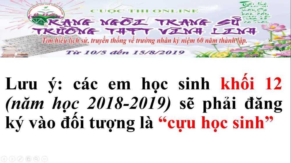 Thông báo về cuộc thi